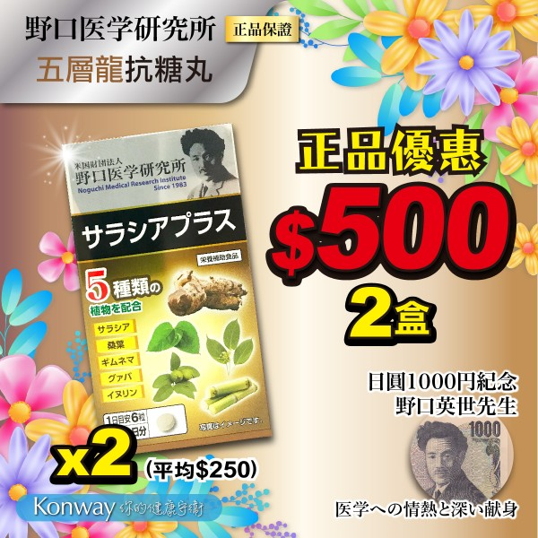 【四月限定】野口醫學-五層龍抗糖丸 - 兩盒裝